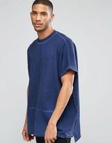 Asos Extreme Oversized Longline Sweatshirt With Indigo Wash