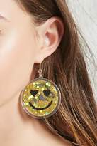 Forever 21 FOREVER 21+ Happy Face Drop Earrings