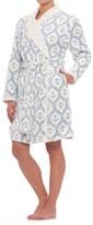 Nautica Short Plush Robe - Long Sleeve (For Women)