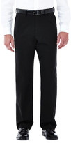 Haggar Big & Tall Premium Stretch Solid Dress Pant - Classic Fit, Flat Front, Hidden Expandable Waistband