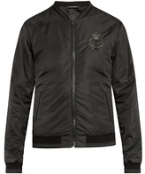 Dolce & Gabbana Crown-embroidered Nylon Bomber Jacket