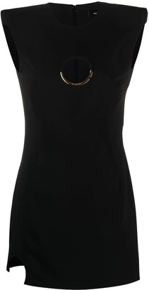Versace Cut-out Detail Mini Dress, Black