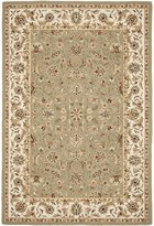 Safavieh Chelsea Collection HK78D Hand-Hooked Sage and Ivory Wool Area Rug, 8 feet 9 inches by 11 feet 9 inches