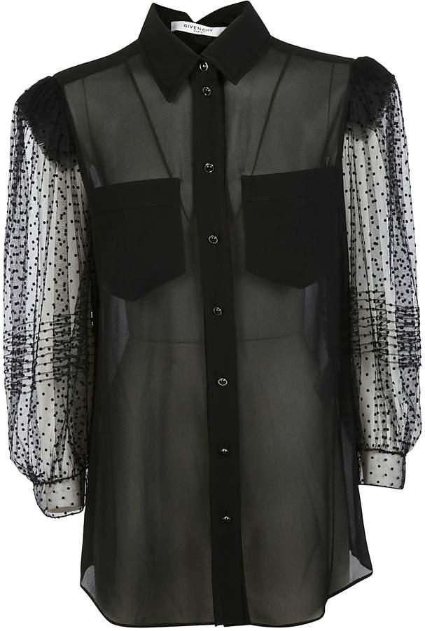 Givenchy Sheer Sleeve Shirt