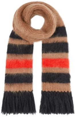 Burberry Striped Knitted Mohair Silk Scarf