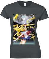 NisaBella Sailor Moon Crystal Anime Space Manga Women T Shirt Top-S