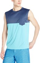 Teal Cove Men's Swim Color Block Tank Top with 20+ Upf Protection