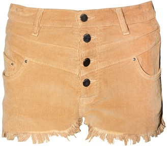 Amiri High-waisted Corduroy Shorts Brown