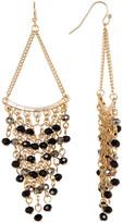Natasha Accessories Beaded Fringe Chandelier Earrings