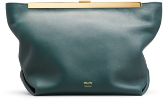 KHAITE Augusta Leather Envelope Clutch Bag