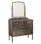 Rejuvenation Steel Sheraton-Style Simmons Dresser w/ Mirror c1928