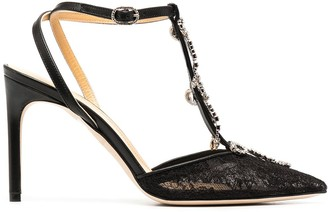 Giannico Merry lace pumps
