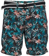 Superdry Mens International Print Chino Shorts Washed Black Aloha Print