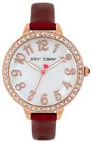 Betsey Johnson Analog Embellished Rose Goldtone Watch