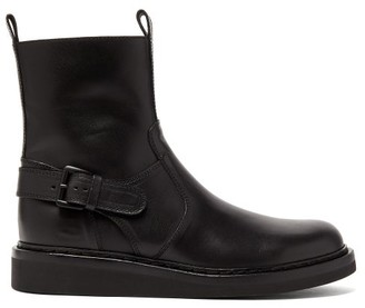 Ann Demeulemeester Buckled Leather Ankle Boots - Womens - Black