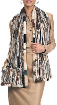 Gorski Mink Fur Knit Stole