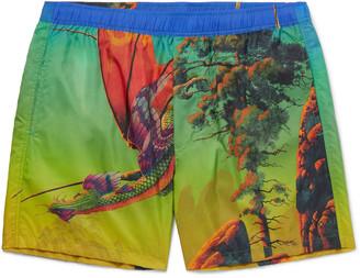 Valentino Mid-Length Printed Swim Shorts - Men - Green