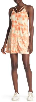 Poof Strappy Knit Tie-Dye Dress