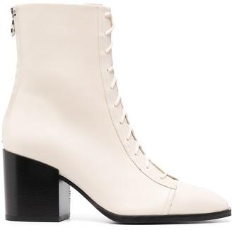 AEYDĒ Heeled Lace-Up Boots