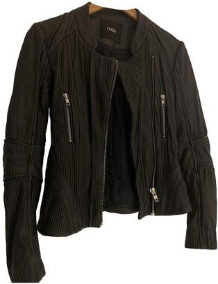 Maje Grey Leather Jacket for Women