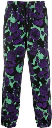 MSGM Floral-Print Track Pants
