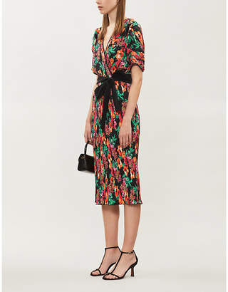 Diane von Furstenberg Autumn floral-print stretch-crepe wrap dress
