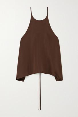 LVIR Tie-back Satin Camisole - Brown