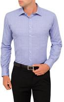 Van Heusen Contrast Overcheck Euro Fit Shirt