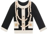 Chanel Pre Owned pearl-trim jacket brooch