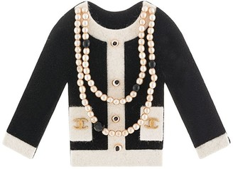 Chanel Pre-Owned pearl-trim jacket brooch
