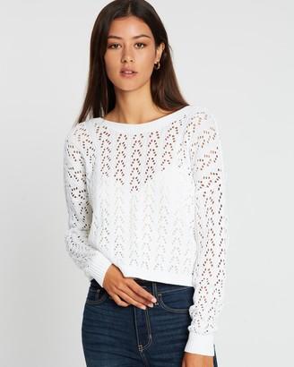 Hollister Twist Back Crochet Sweater