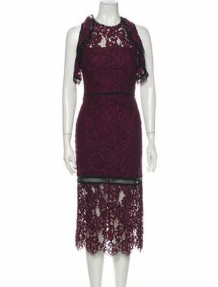 Alexis Lace Pattern Long Dress Purple
