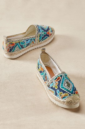 Soft Surroundings Agleam Embroidered Espadrilles