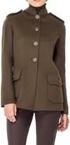 Max Studio Wool Double Weave Military Jacket