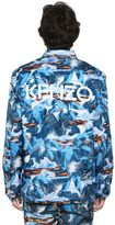 Kenzo Tropical Ice Print Nylon Bomber Jacket