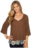 Wrangler Swing Top 3/4 Sleeve Women's Clothing