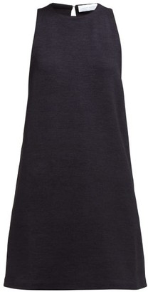 Marina Moscone Silk-blend Tunic Top - Black
