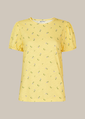 Puff Sleeve Forget Me Not Tee