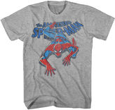 Novelty T-Shirts Vintage Spider-Man Short-Sleeve Graphic Tee
