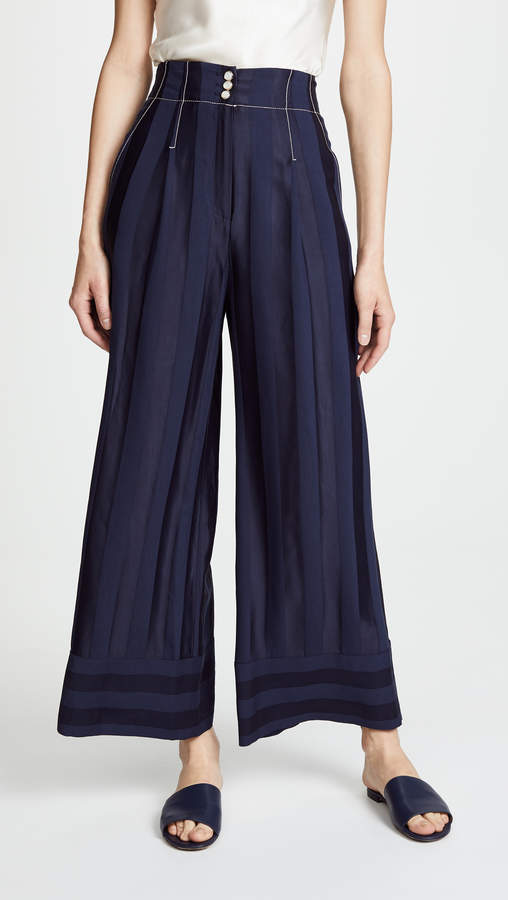 Temperley London Sail Boat Tailored Trousers