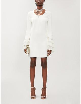 Giambattista Valli Pleated-cuff crepe mini dress