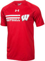 Under Armour Men's Wisconsin Badgers College Wordmark T-Shirt