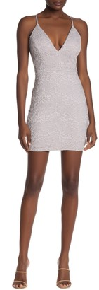 Love, Nickie Lew Lace Back Cutout Body Con Mini Dress