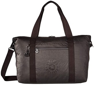 Kipling New Classics Art Medium Tote Bag (Raw Black) Bags
