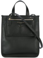 Anthony Vaccarello square tote - women - Calf Leather - One Size