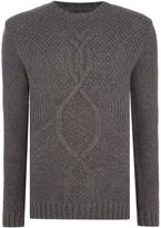 Gant Men's Cable-Knit Crew-Neck Jumper