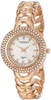 Akribos XXIV Amazon Exclusive Women's AK804RG Diamond-Accented Rose Gold-Tone Watch