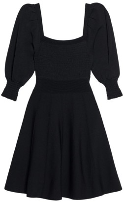 Sandro Puff-Sleeve Dress