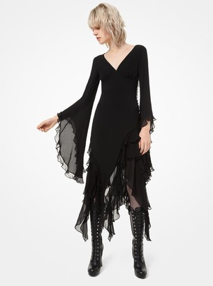 Michael Kors Silk-Georgette Ruffle Dress