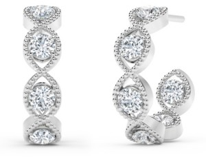 Forevermark Tribute Collection Diamond (7/8 ct. t.w.) Hoop Earrings in 18k Yellow, White and Rose Gold.
